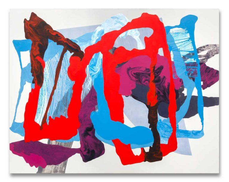 Ha-ça-ira-red-1 oil on canvas 111.76 cm x 142.24 cm.