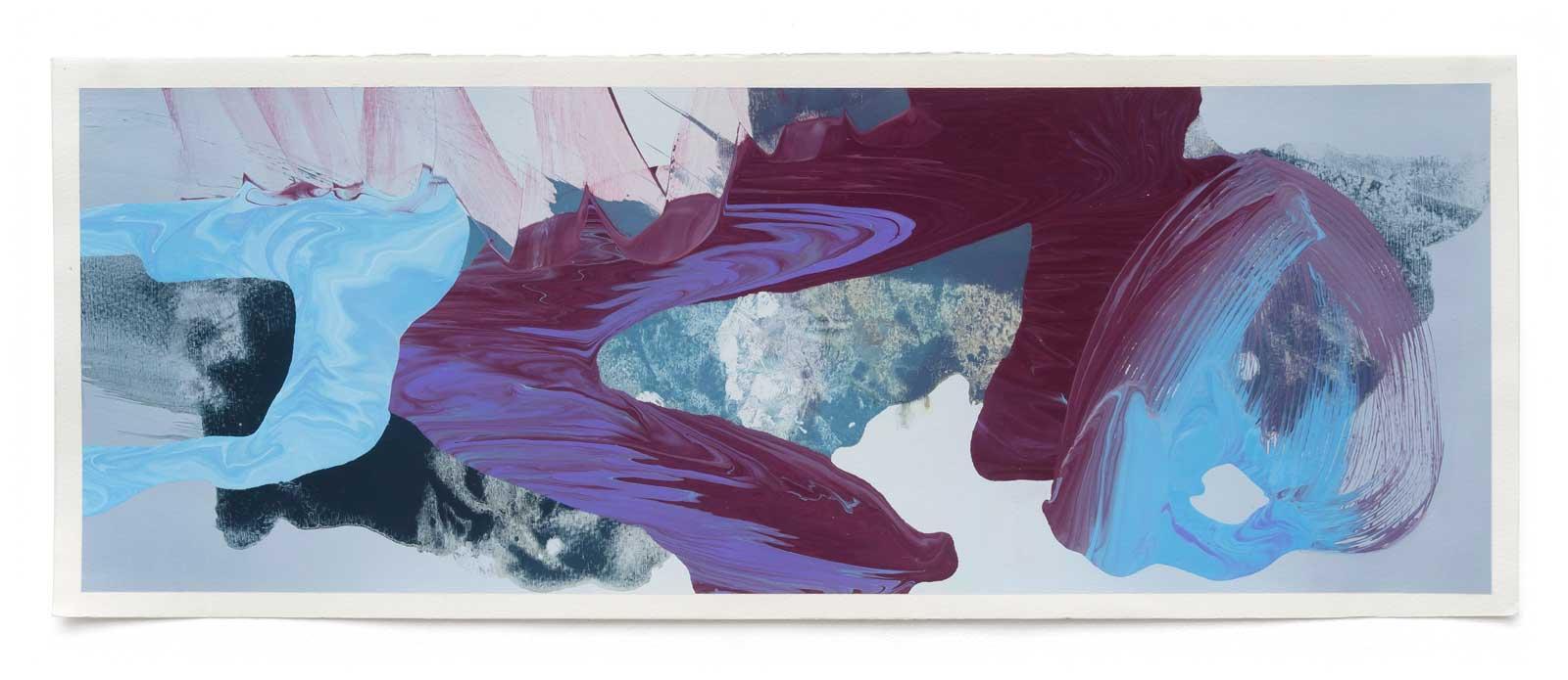 Disruptions-1-oil-on-paper-25.4 cm x 71.12 cm.