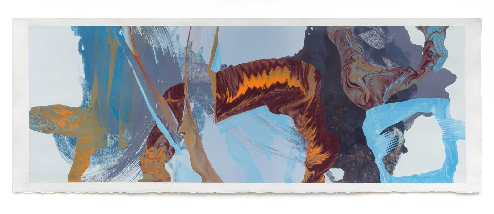Disruptions-2-oil-on-paper-25.4 cm x 71.12 cm.