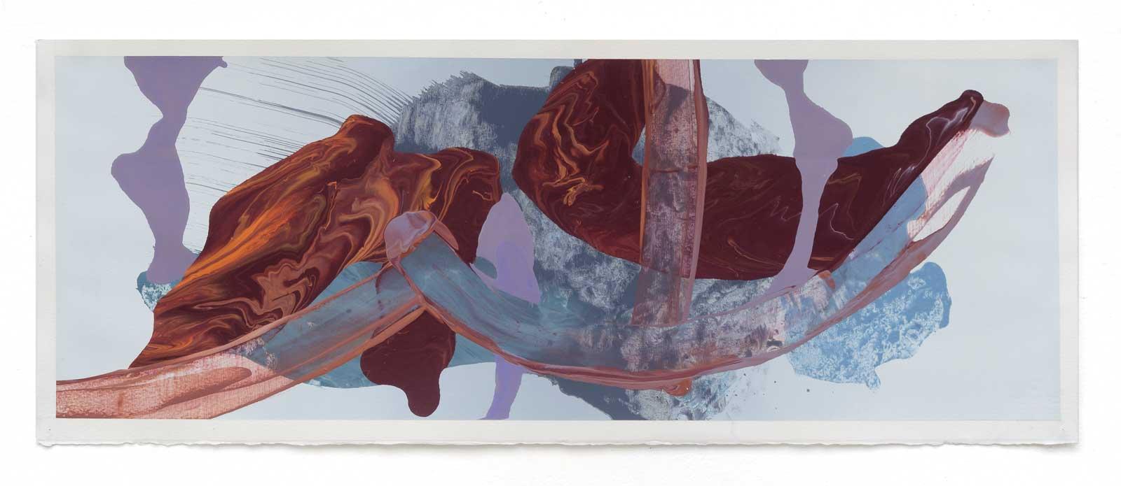 Disruptions-3-oil-on-paper-25.4 cm x 71.12 cm.