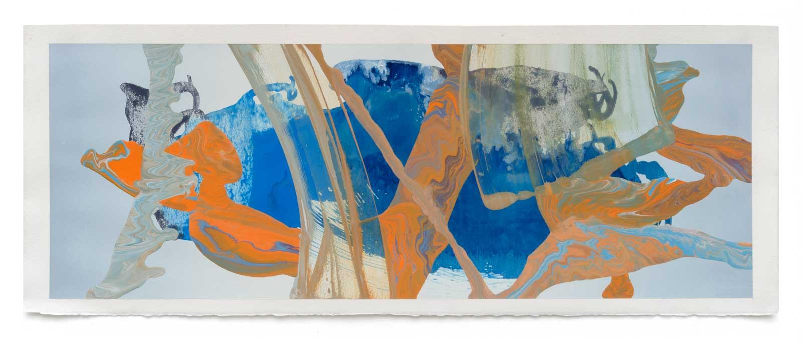 Disruptions-4-oil-on-paper-25.4 cm x 71.12 cm.