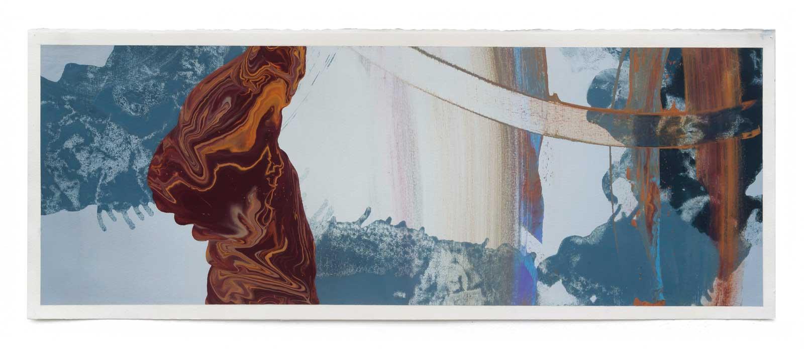 Disruptions-5-oil-on-paper-25.4 cm x 71.12 cm.