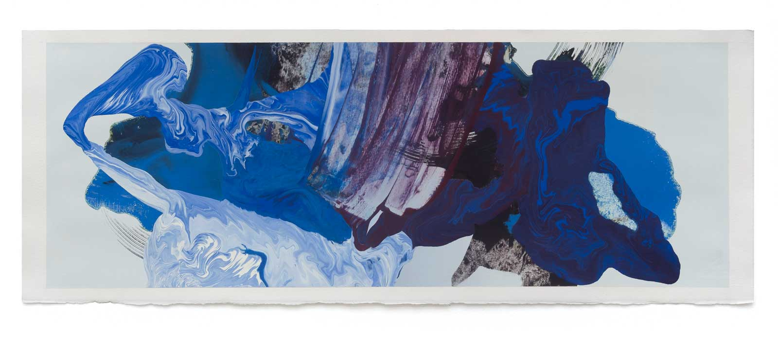 Disruptions-6-oil-on-paper-71.12 cm x 25.4 cm.