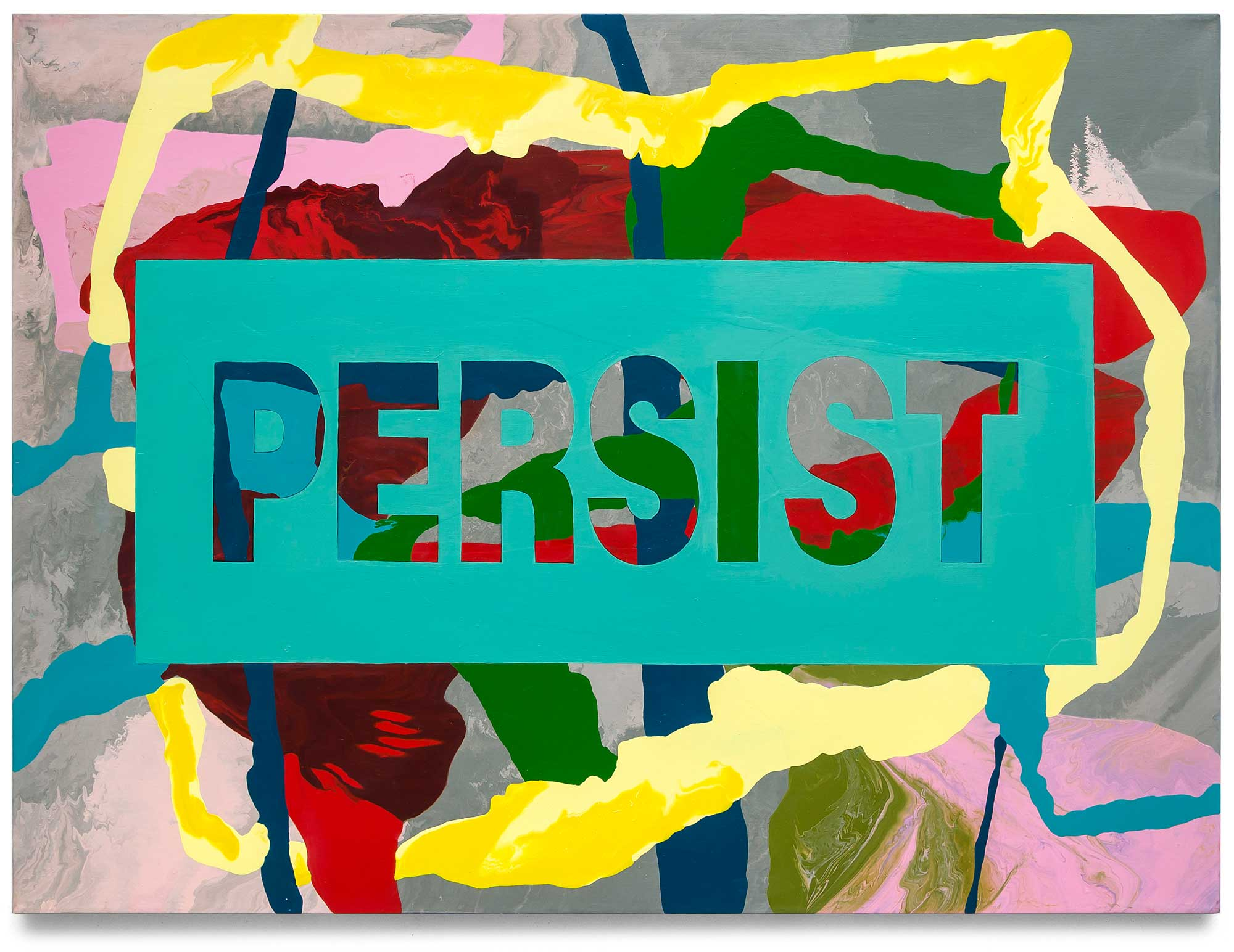 Persist-oil-on-canvas-91.44 cm x 121.92 cm.