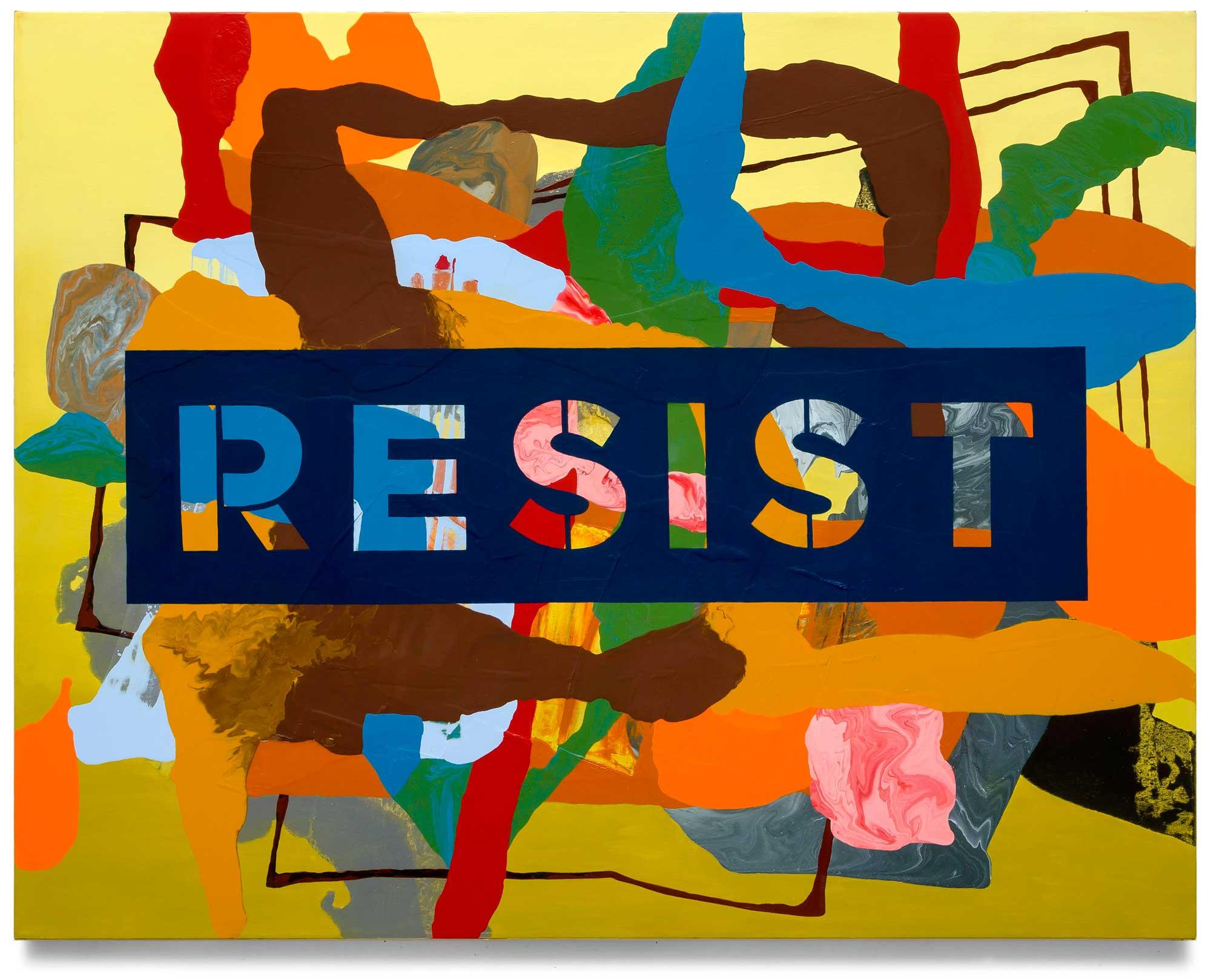 Resist-oil-on-canvas-111.76 cm x 142.24 cm.