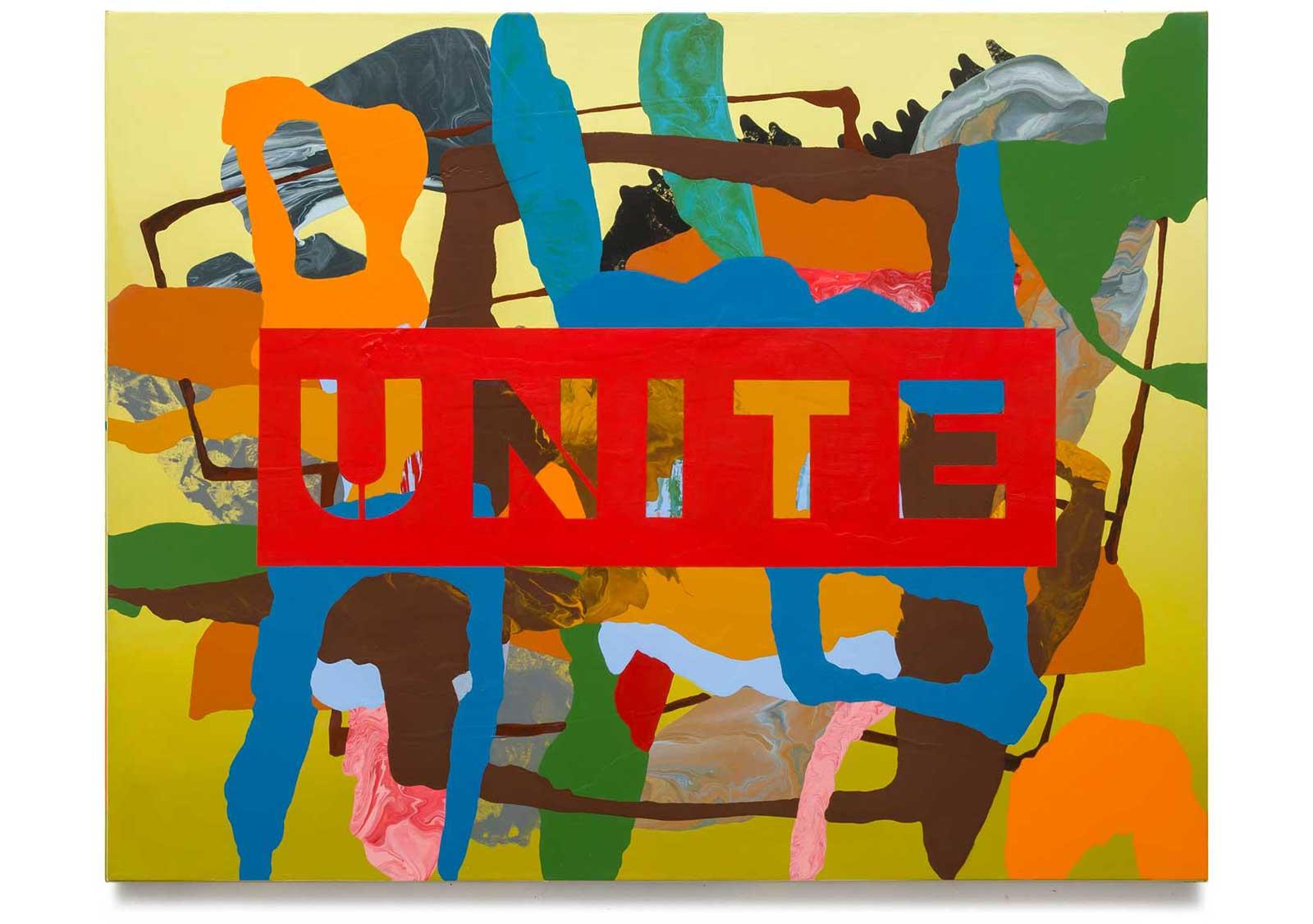 Unite, oil on canvas 111.76 cm x 142.24 cm.