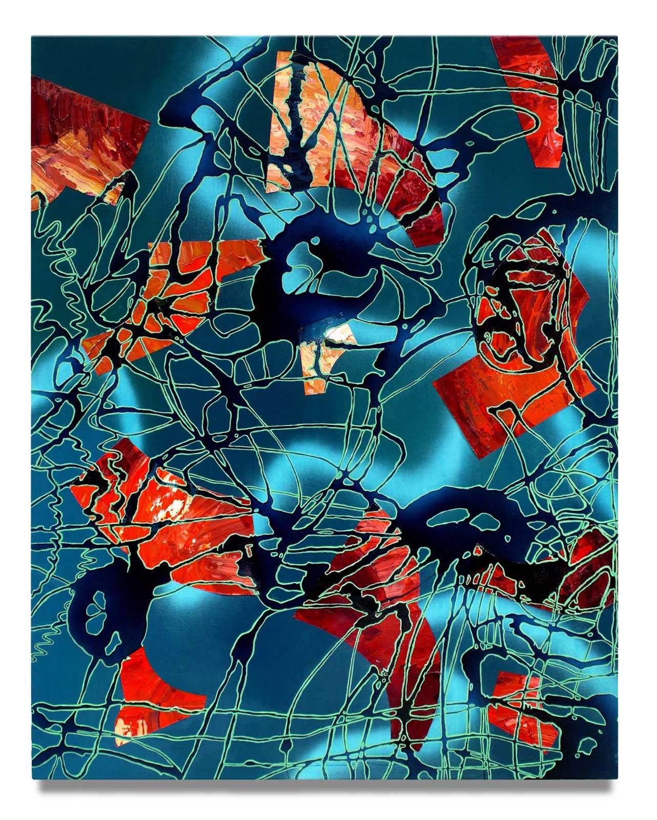 Loose Net - Oil on Canvas - 142.24 cm x 111.76 cm.