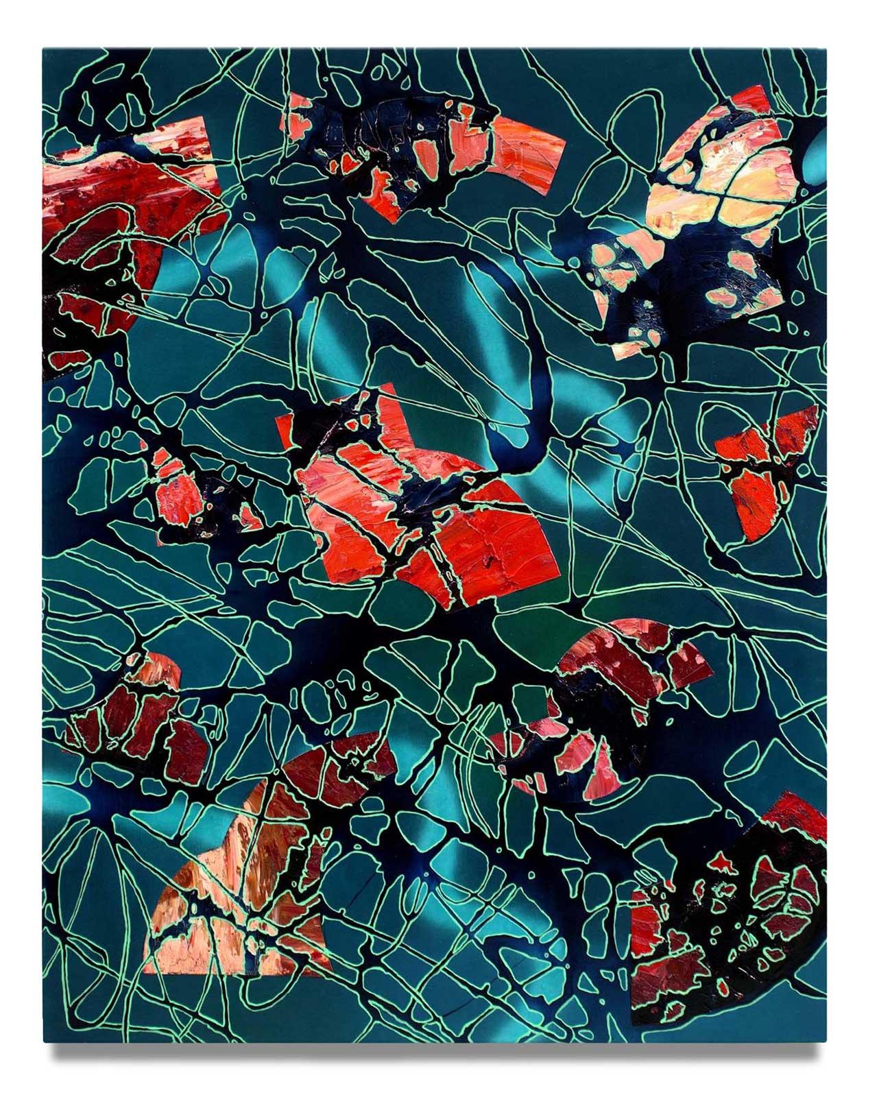 Through The Net - Oil on Canvas - 142.24 cm x 111.76 cm.