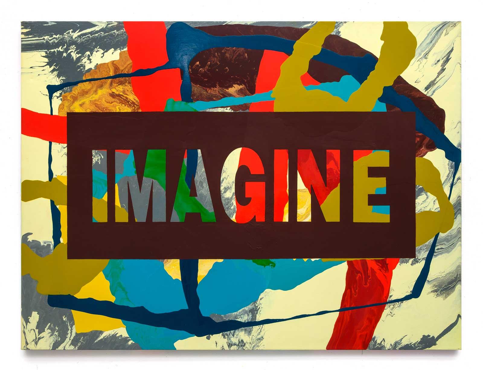 Imagine, oil on canvas 91.44 cm x 121.92 cm.