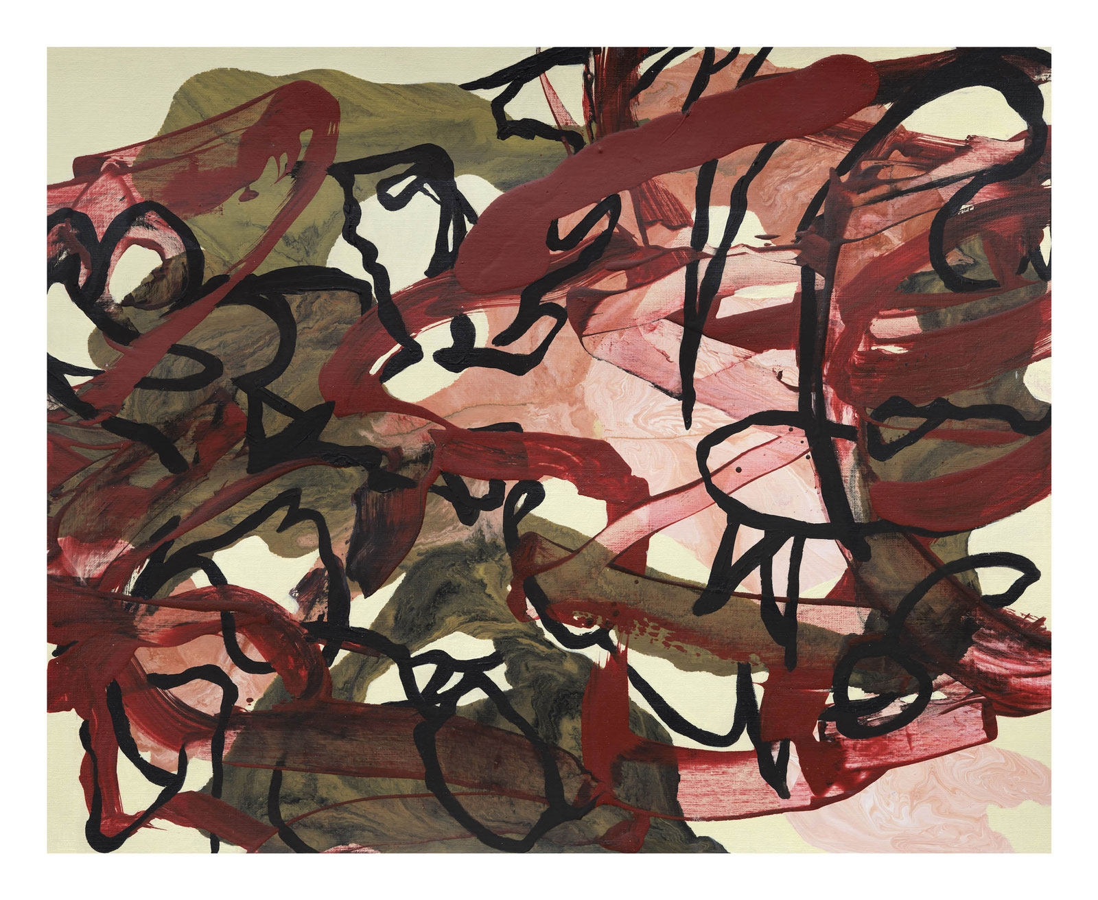Through-Strokes-1,-oil-paper-45.72 cm x 60.96 cm.