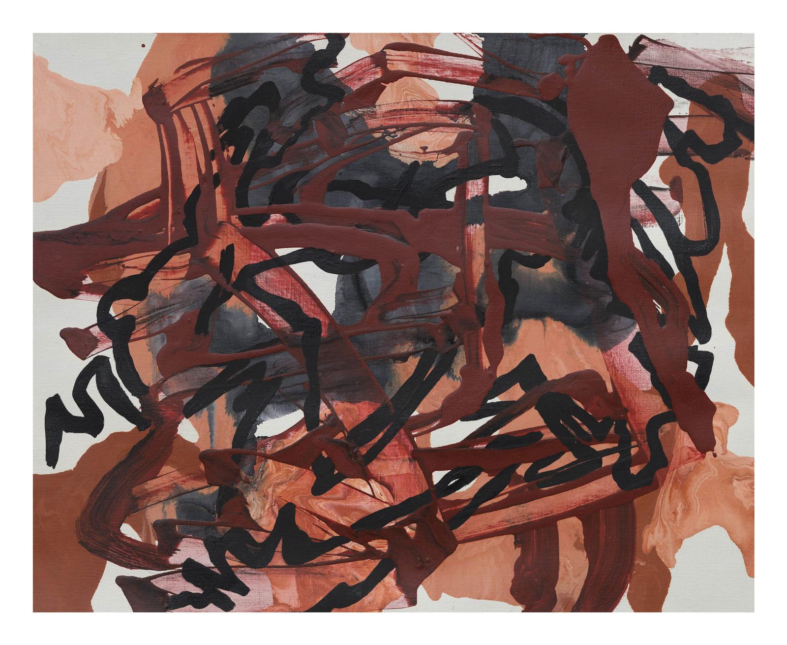 Through-Strokes-2,-oil-paper-45.72 cm x 60.96 cm.