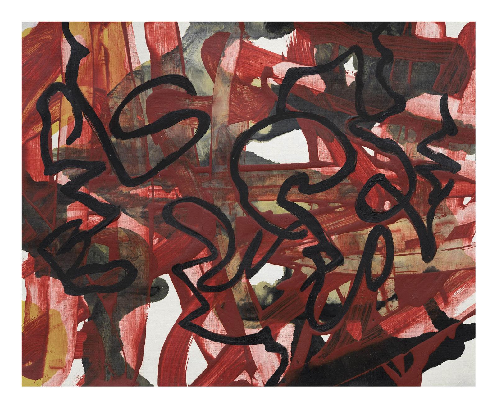 Through-Strokes-3,-oil-paper-45.72 cm x 60.96 cm.