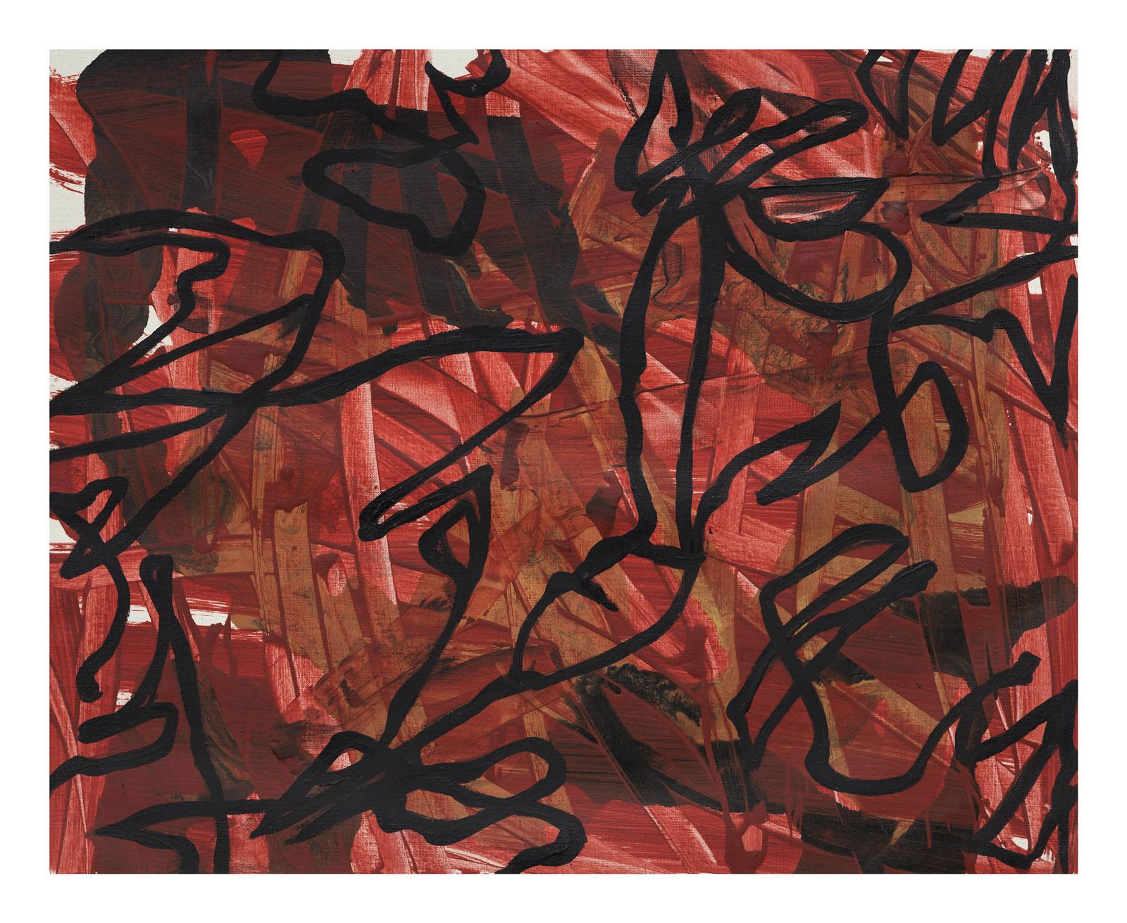 Through-Strokes-4,-oil-paper-45.72 cm x 60.96 cm.