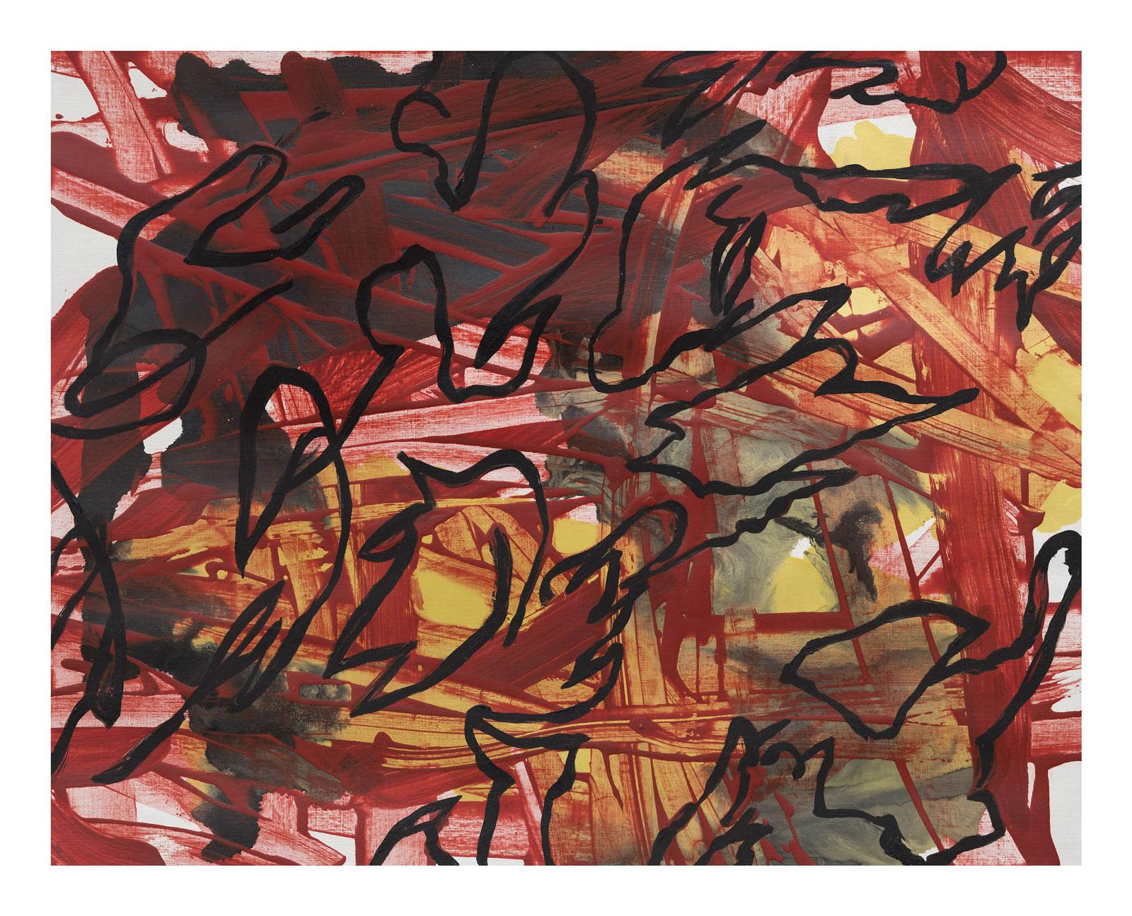 Through-Strokes-6,-oil-paper-45.72 cm x 60.96 cm.