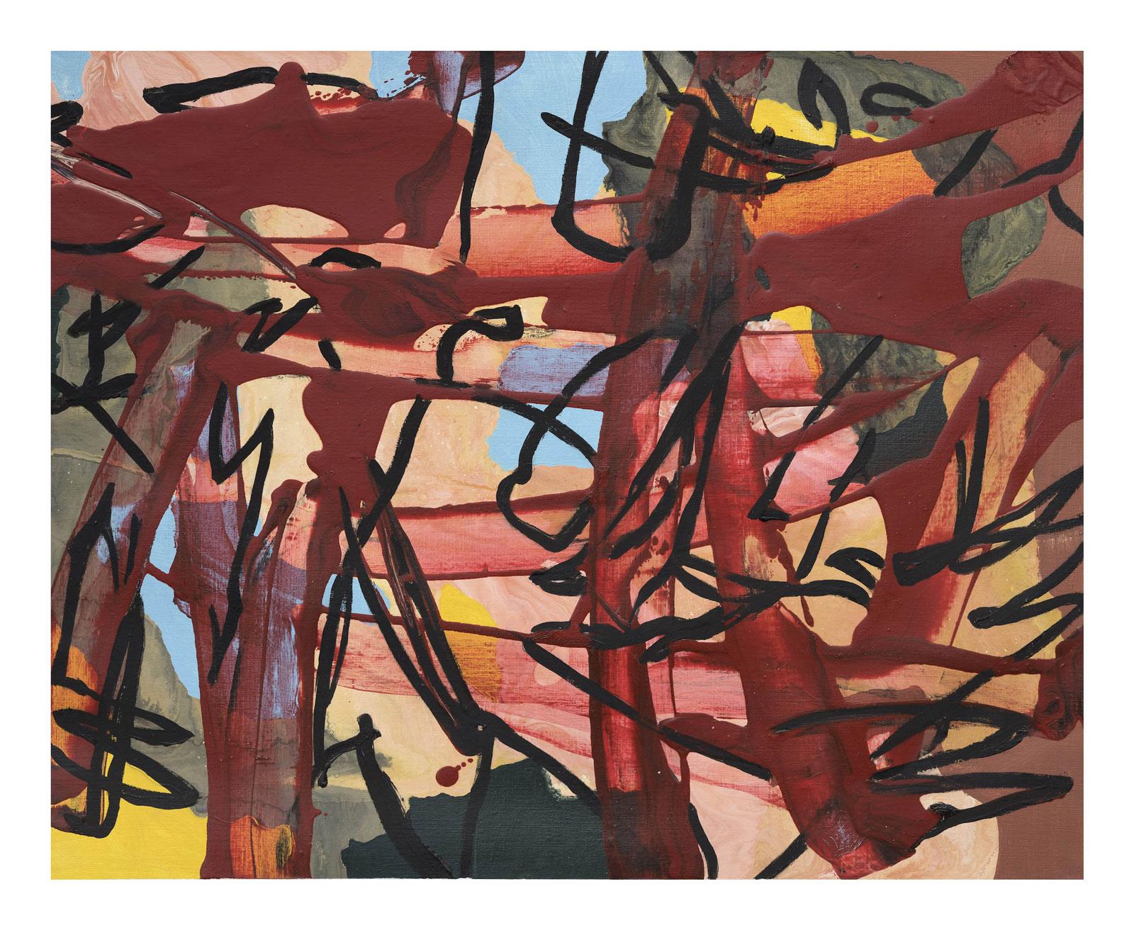 Through-Strokes-8,-oil-paper-45.72 cm x 60.96 cm.