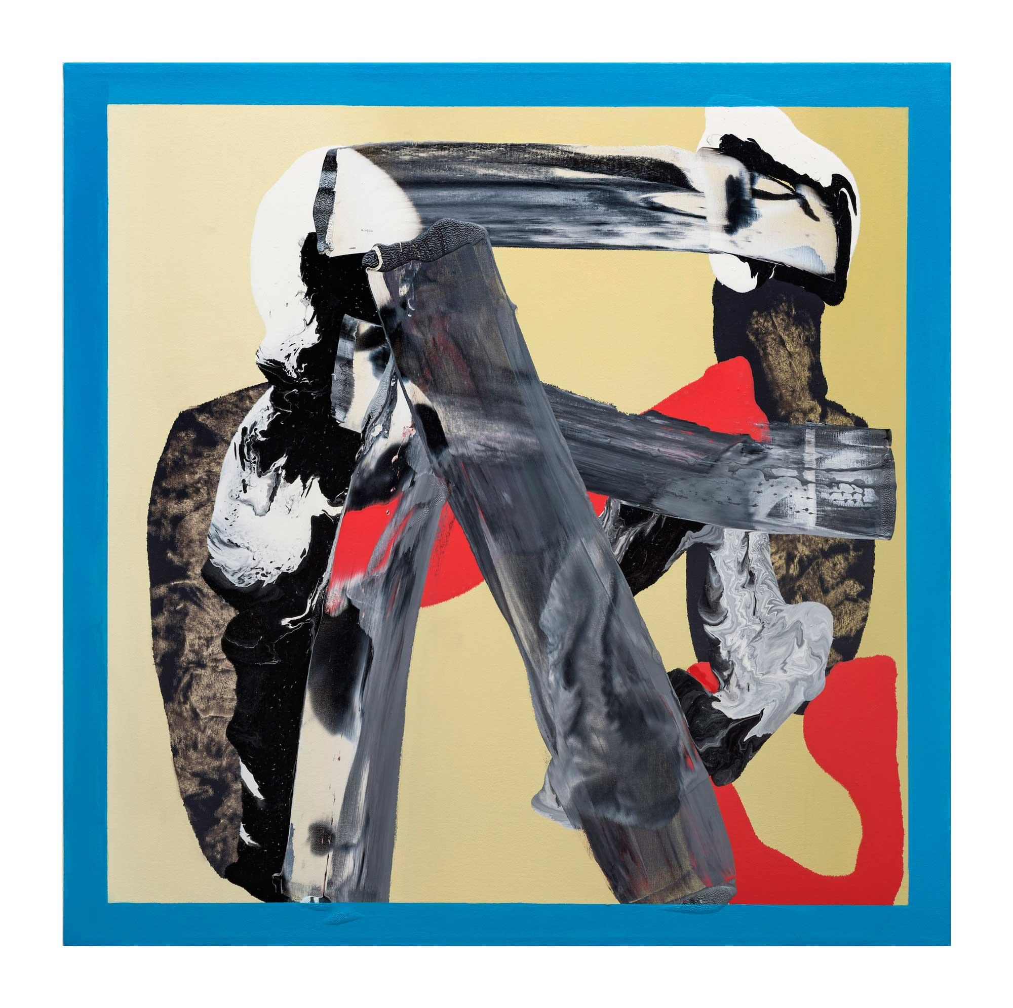 Grounding-blue-4,-oil-canvas,-24'x24'