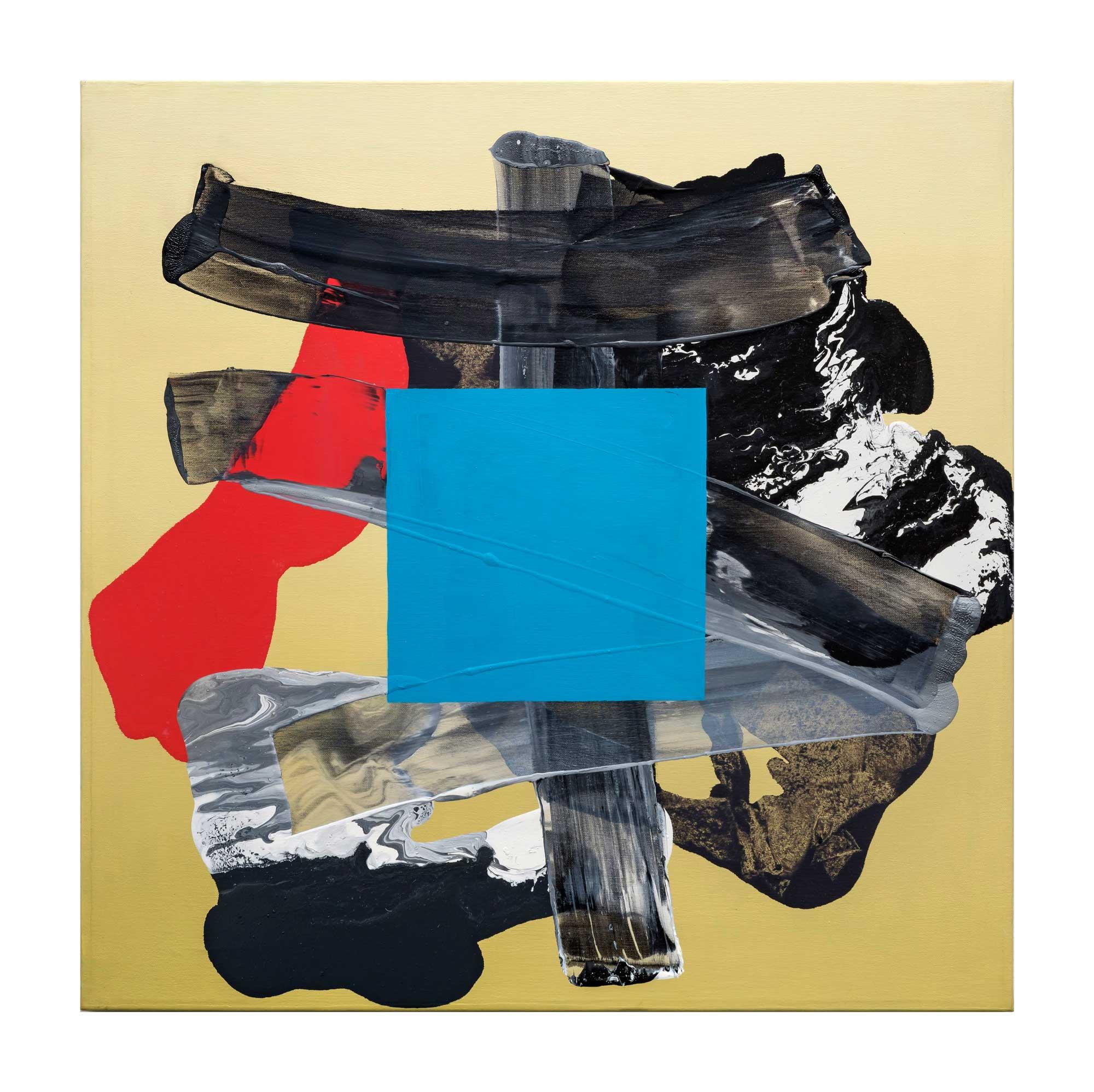 Grounding-blue-7,-oil-canvas,-24'x24'