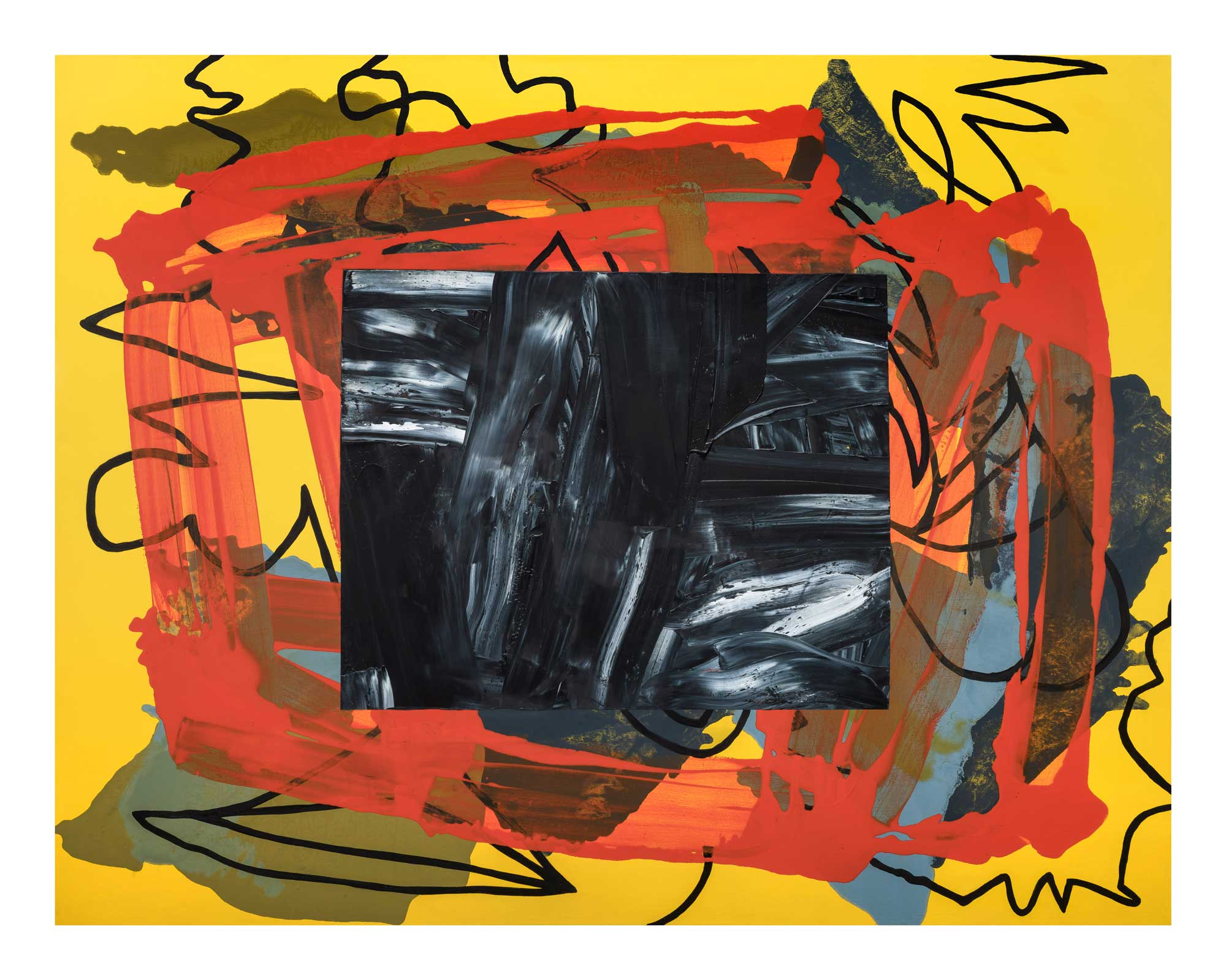 The-core-of-things-is-what-is-around-2,-oil-canvas-48'x62'
